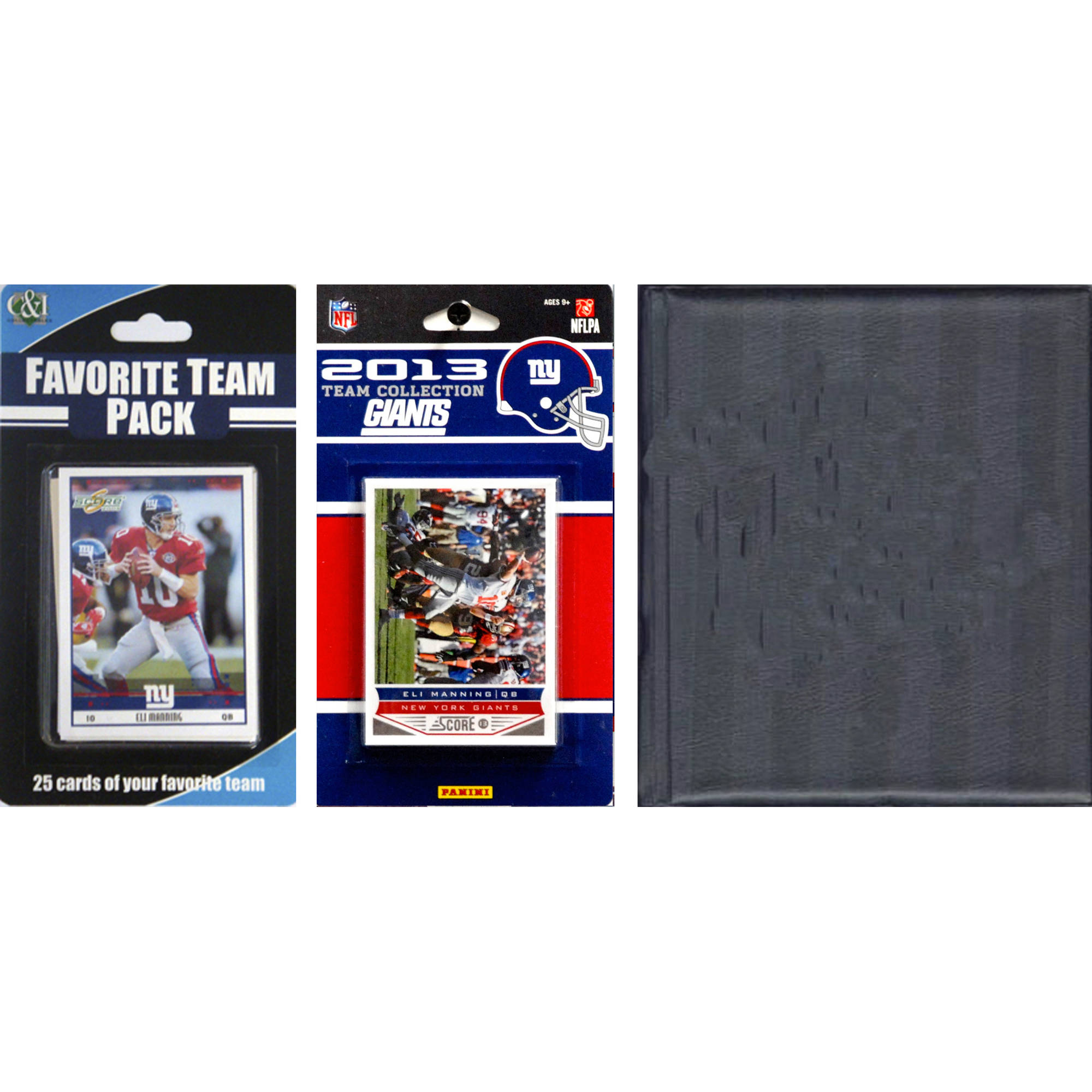 C&I Collectables NFL New York Giants Licensed 2013 Score Team Set and Favorite Player Trading Card Pack Plus Storage Album