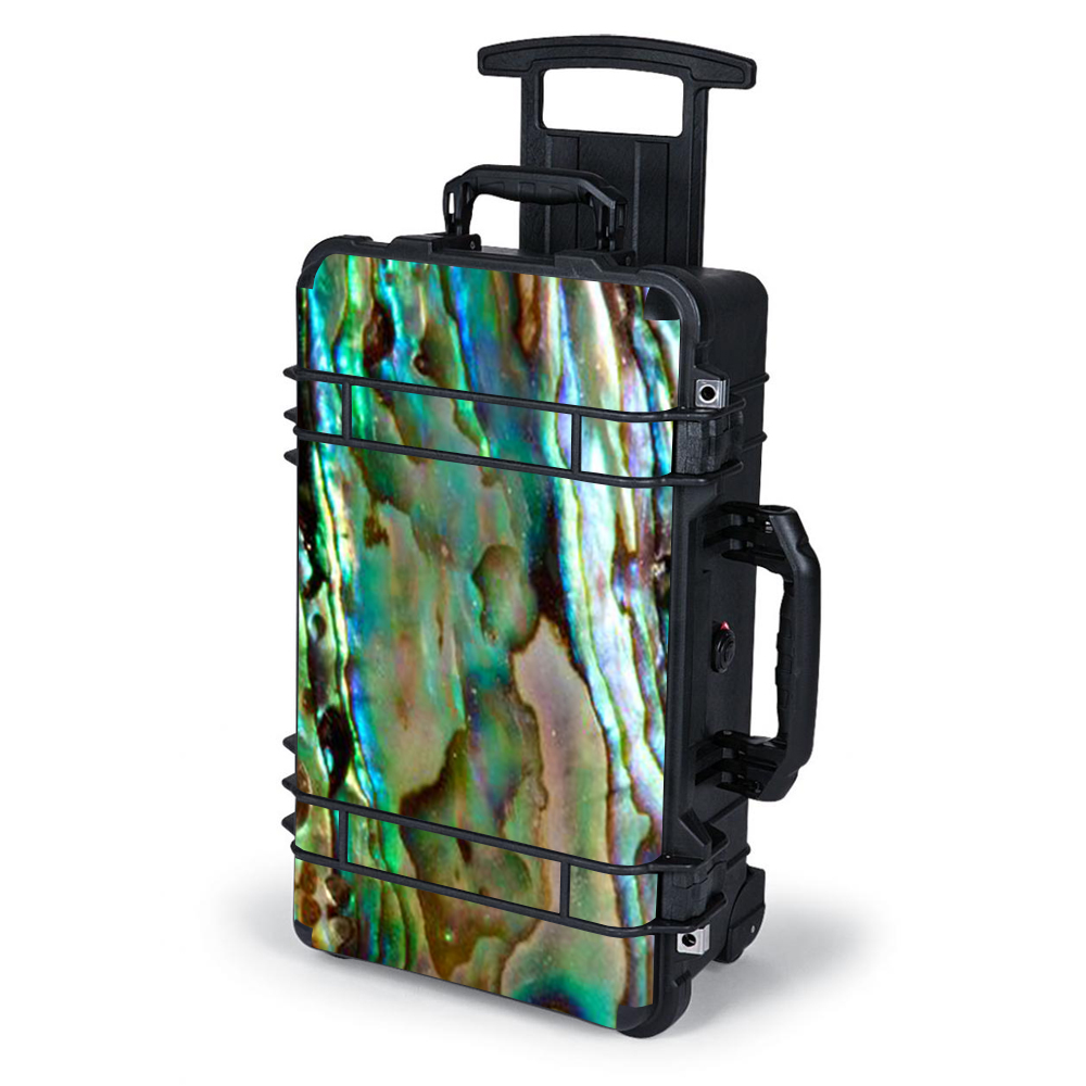 Skin Decal For Pelican Case 1510 / Abalone Sea Shell Gold Blues Beautiful