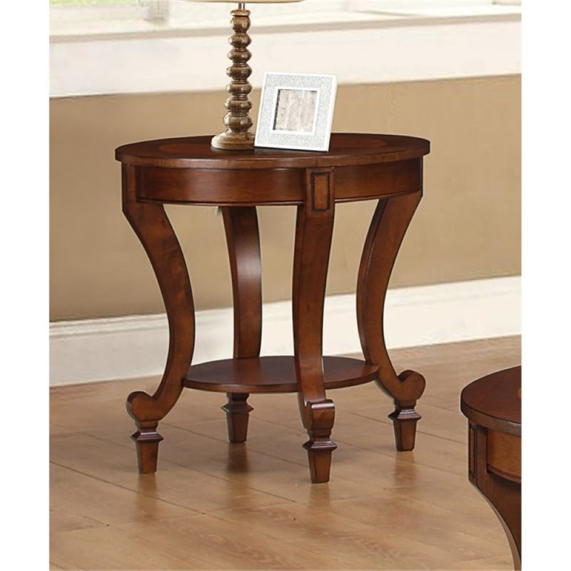 Bowery Hill Wood End Table in Warm Brown