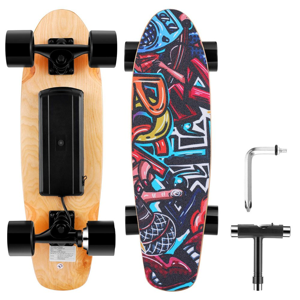 "25.4"" Electric Skateboard 350W 20km/h Longboard with Wireless Remote Control"