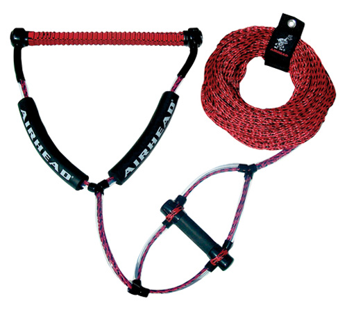 Kwik Tek AHWR-2 Wakeboard Rope, Phat Grip, Trick Handle, Red by Kwik Tek