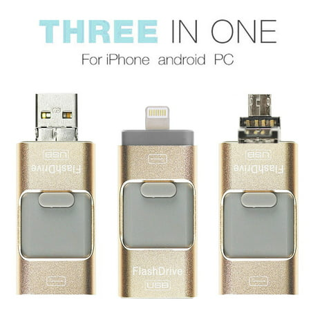 3 in 1 USB Flash Drive for Apple IOS & Android & Computers (Flash Player Archive Page Android 4-4 2)