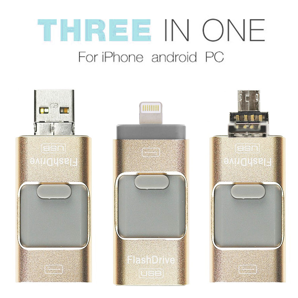 3 in 1 USB Flash Drive for Apple IOS & Android & Computers (32GB)