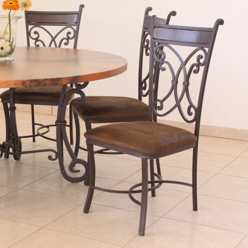 Valencia Metal Dining Side Chair - Dark Brown - Set of 2