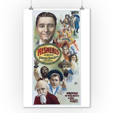 Mesmeris the Greatest Lightning Change Artist in the World Vintage Poster USA (9x12 Art Print, Wall Decor Travel Poster) ()
