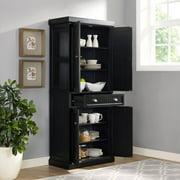Kitchen Pantry Storage Cabinet. Seaside Kitchen Pantry in Distressed Black Finish Pantries  Walmart com