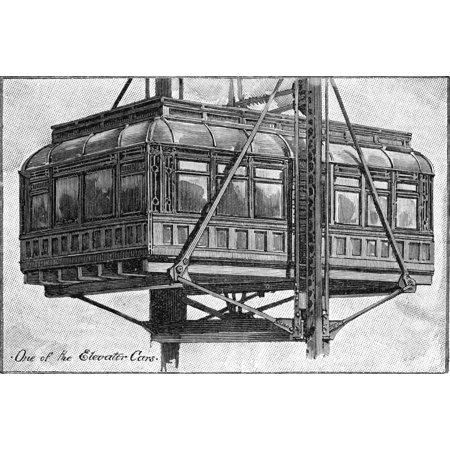 Commuter Elevator Car None Of The Elevators At Weehawken New Jersey Which Carried Commuters Between The Hudson River Ferry Terminal At The Base Of The Palisades And The Train Station At The Top Wood (Last Train From Penn Station To New Jersey)
