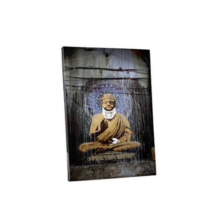 """Banksy Injured Buddha"" Gallery Wrapped Canvas Wall Art, 20"" x 16"""