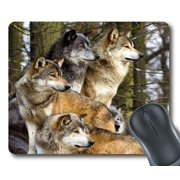"""GCKG Wolfs Wild Animal Mouse Pad Personalized Unique Rectangle Gaming Mousepad 9.84""""(L) x 7.87""""(W)"""