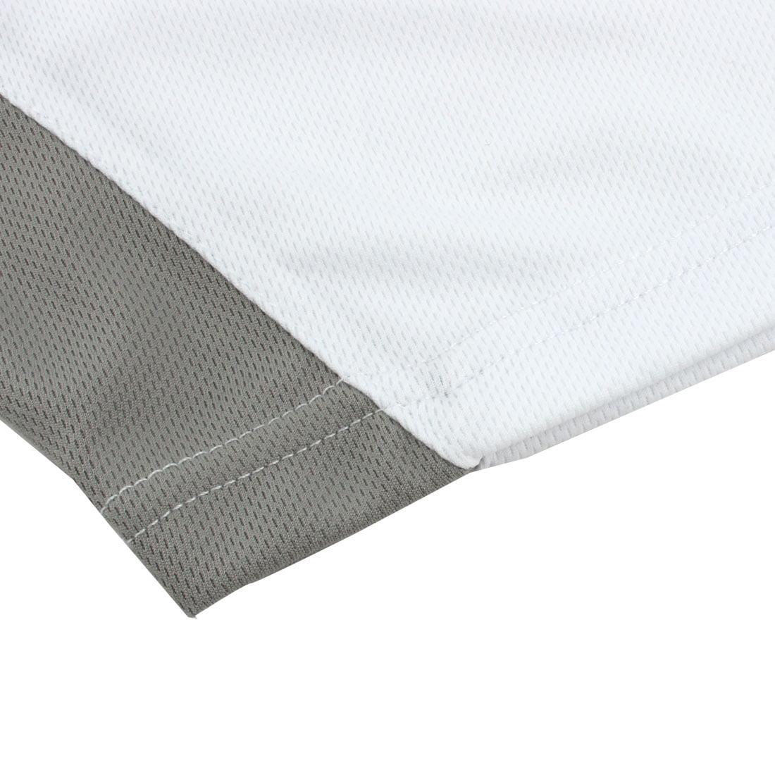 Men Exercise Marathon Polyester Short Sleeve Sports T-shirt White L/L (US 42) - image 1 de 6