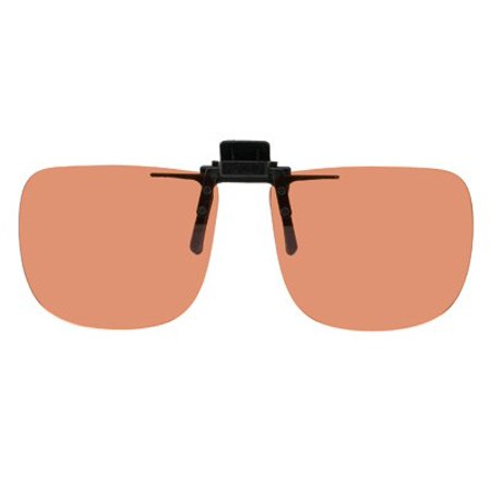 Polarized Clip-on Flip-up Copper Enhancing Driving Glasses - 58mm Wide X 47mm High (128mm (Wide Eye Glasses)