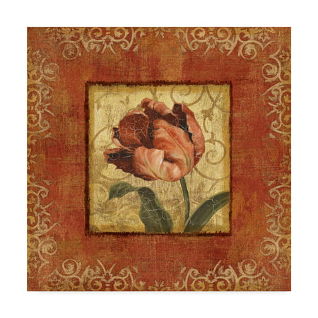Trademark Fine Art 'Red and Gold Flower II' Canvas Art by Lisa Audit ()