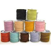 "Sof-Suede Lace 3/32"" x 50 Feet Realeather Leather Lacing Spool Craft Cord - Cafe"
