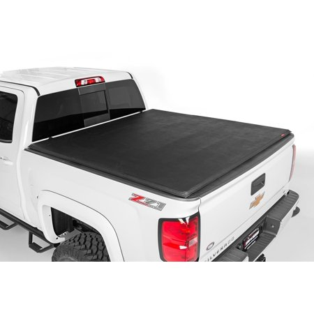 Rough Country Soft Tri-Fold fits 07-13 Chevy Silverado Sierra 8 FT Bed Tonneau (Best Folding Tonneau Cover For Silverado)