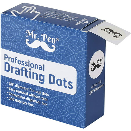 Mr. Pen- Drafting Tape, 500 Pieces Drafting Dots, Tape, Art Tape, Tape Dots, Artist Masking Tape, Drafting Supplies, Architectural Dots Tape, Stationary Tape, Tape for Art, Tape for Drawing Paper