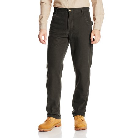 Mens Pants 34x32 Fleeced Lined Canvas Dungaree 34