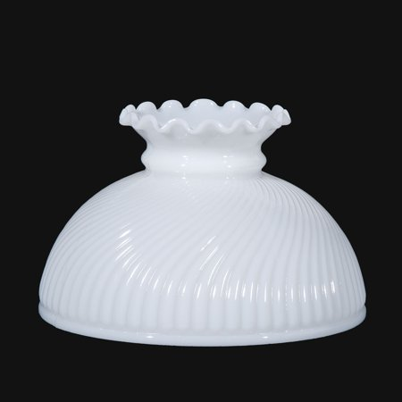 "06011 - 10"" Opal Glass Swirl Rib Swirl Shade"