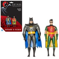 Batman: TAS Batman and Robin 3-Inch Bendable Action Figures