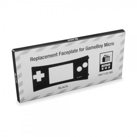 Replacement Faceplate for Game Boy Micro (Black) - RepairBox (Gameboy Color Faceplates)