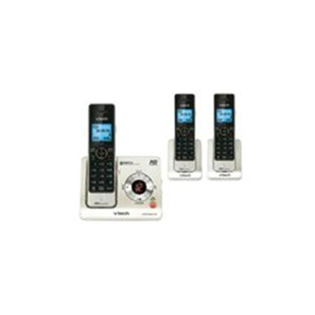 ATT-Vtech 80-7724-00 3 Handset Cordless DECT 1.9GHz Digital Integrated Answering Device - Silver & Black