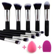 BEAKEY Makeup Brushes Set Premium Makeup Brush Kit Synthetic Kabuki with
