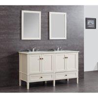 "Simpli Home Chelsea 60"" Bath Vanity with Quartz Marble Top"