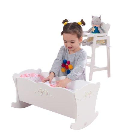 KidKraft Tiffany Bow Lil Doll Cradle Cozy Doll Cradle