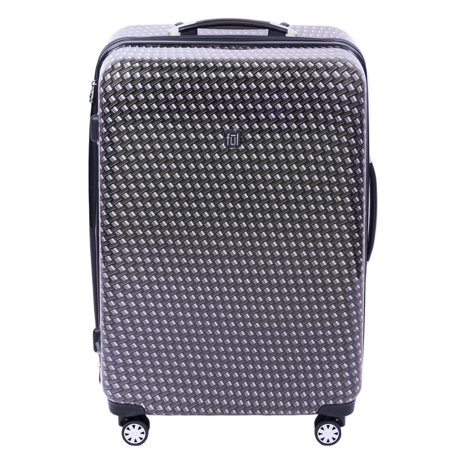 FUL Metal Chain 28in Hard-sided Spinner Luggage, Black