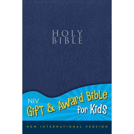 Holy Bible  New International Version  Navy  Leather Look  Gift   Award Bible For Kids