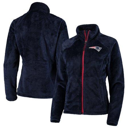 Womens Navy Fleece (New England Patriots G-III 4Her by Carl Banks Women's Field Goal Fleece Full-Zip Jacket - Navy)