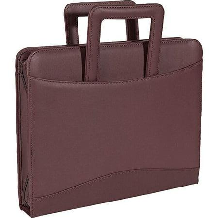 Royce Leather Zip Around Binder Portfolio - Top Grain Nappa Cowhide - Burgundy