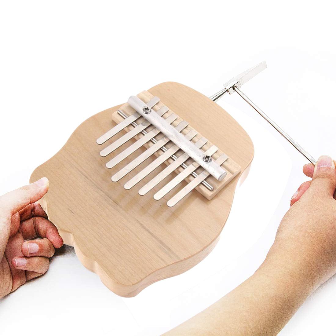 ICOCO 8 keys Thumb Piano kit, Rounded Edges Electric Kalimba, Portable Mahogany Wood