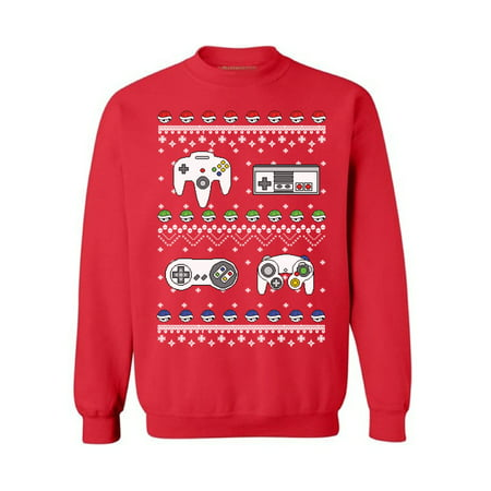 Ugly Holiday Sweater Ideas (Awkward Styles Gamer Christmas Sweatshirt Retro Gamer Ugly Christmas Sweater Funny Christmas Gifts Nerdy Christmas Ugly Sweater Holiday Gift Tacky Christmas Jumper Nineties Holiday)
