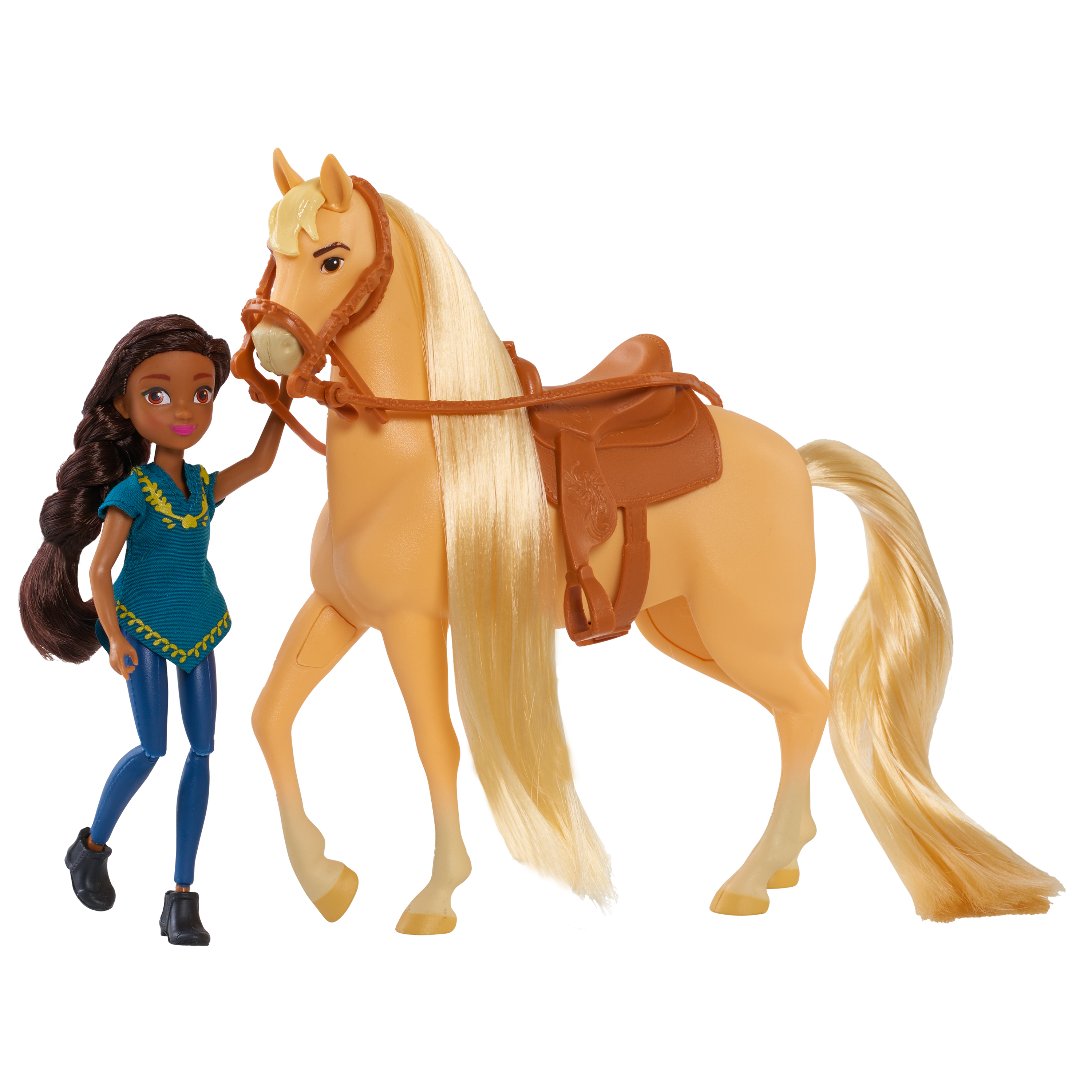 Dreamworks Spirit Riding Free Small Doll & Collector Horse Set- Prudence & Chica
