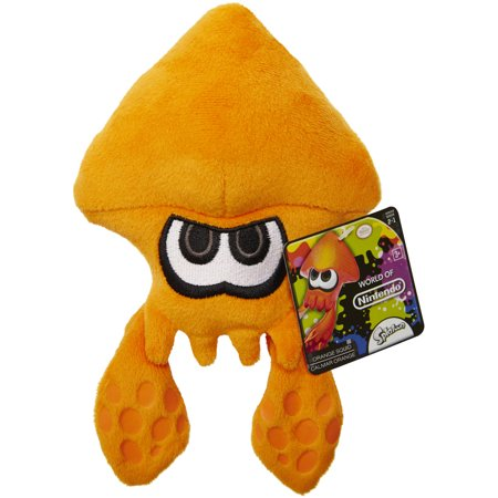 Mario Bros U Plush Orange Squid