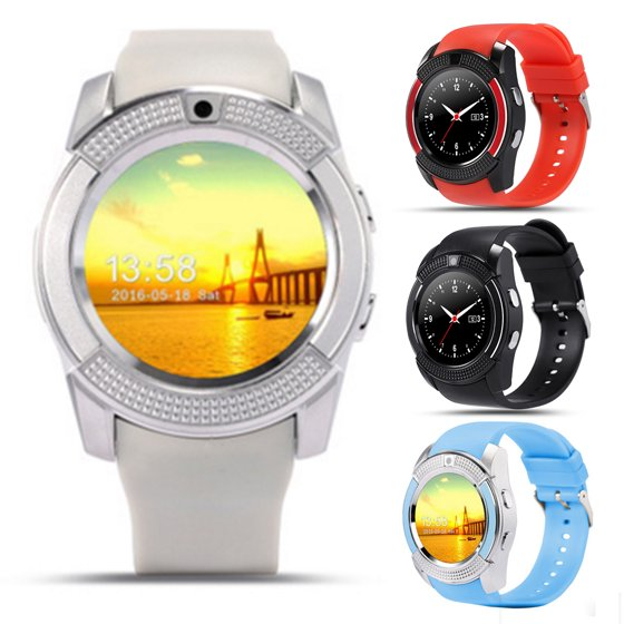 V8 Smart Wrist Watch Bluetooth SIM GSM Card Fitness Pedometer Watch For iOS  Android(Black)
