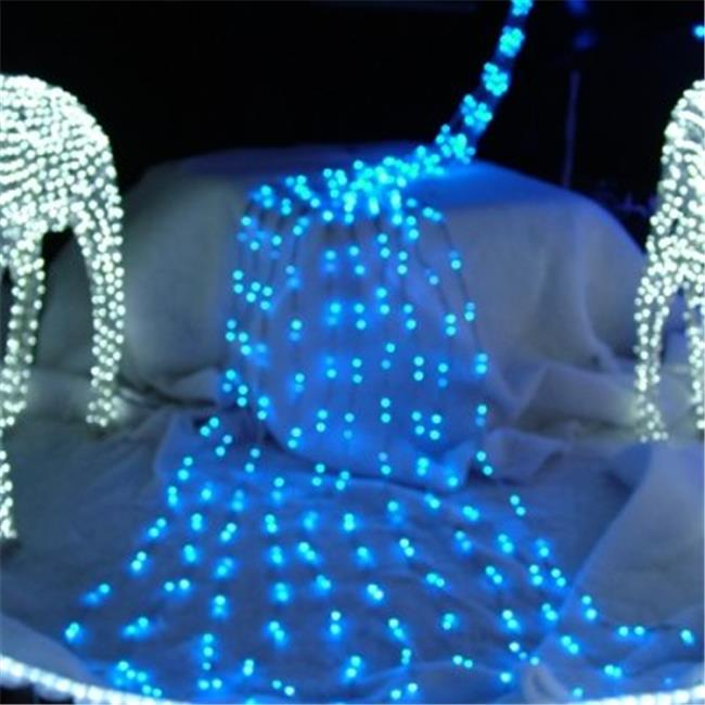 Queens of Christmas LED-WATERFALL-PW 16 ft.  Pure White LED Waterfall Lights