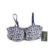 Profile NEW Blue Women's Size 10 Geometric Print Bikini Bottom Top Swimwear $78