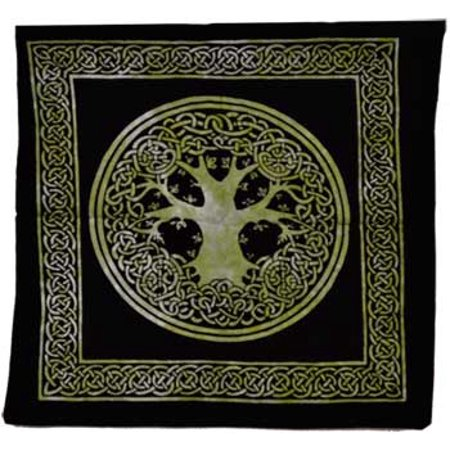 Women Tote Handbags Ancient Celtic Forest Tree of Knowledge Deek Green Washable (Tote Forest Green)