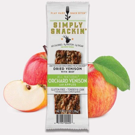 Simply Snackin' Venison Protein Snack - Orchard Venison with -