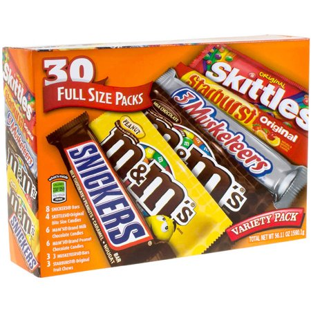 Mars Mix Full Size Packs Candy Variety Pack, 30 count, 56.11 oz](Mars Halloween Variety Bag)