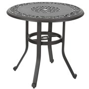"""MF Studio 32"""" Cast Aluminum Patio Outdoor Bistro Table, Round Dining Coffee Tea Small Side End Tables with Frosted Surface for Garden, Patio, Backyard"""