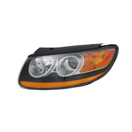 TYC 20-12364-00-9 Left Headlight Assembly for 10-11 Hyundai Santa Fe HY2502156