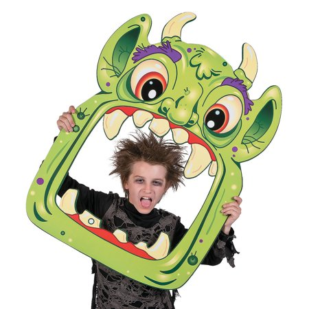 Fun Express - Halloween Monster Photo Prop for Halloween - Party Decor - Wall Decor - Cutouts - Halloween - 1 Piece - Halloween Cutouts For Kids