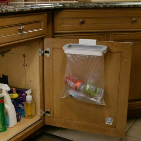 Garbage Bag Holder Hook Door Storage, Kitchen Trash Can Cabinet