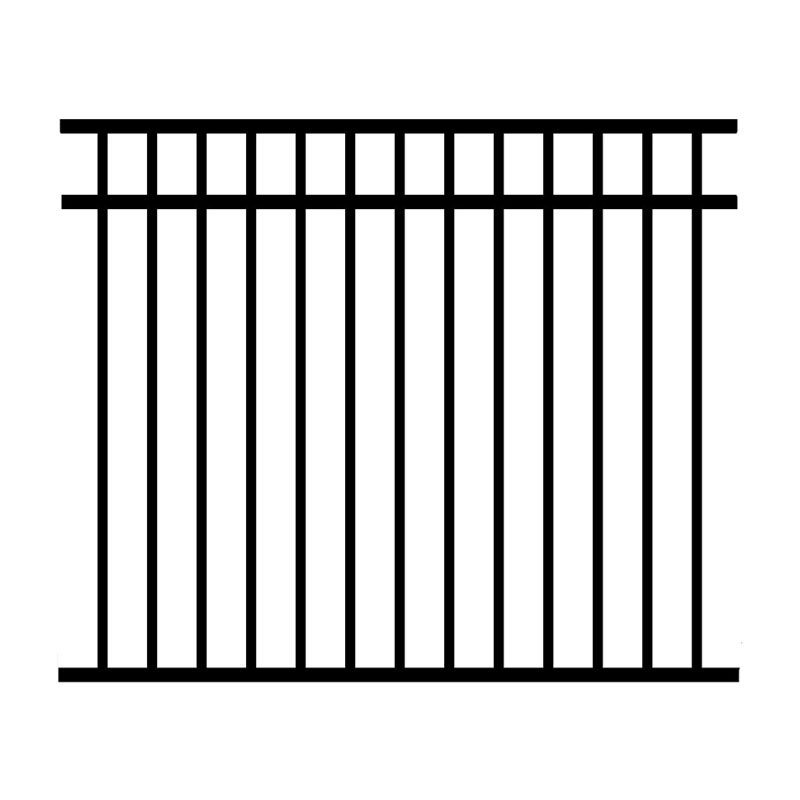 Jerith 54 x 72 in. Black Unassembled 3-Rail Aluminum Fence Section by Jerith Manufacturing Company Inc
