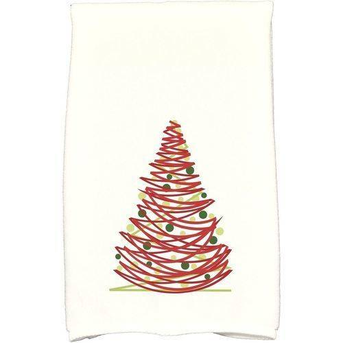 """Simply Daisy 16"""" x 25"""" Oh Christmas Tree Holiday Geometric Print Kitchen Towel by E By Design"""