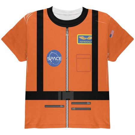 Halloween Astronaunt Costume Orange Escape Suit All Over Youth T Shirt - Halloween Escape