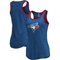 Toronto Blue Jays Fanatics Branded Women's Prime Ringer Tri-Blend Tank Top - Royal/Red