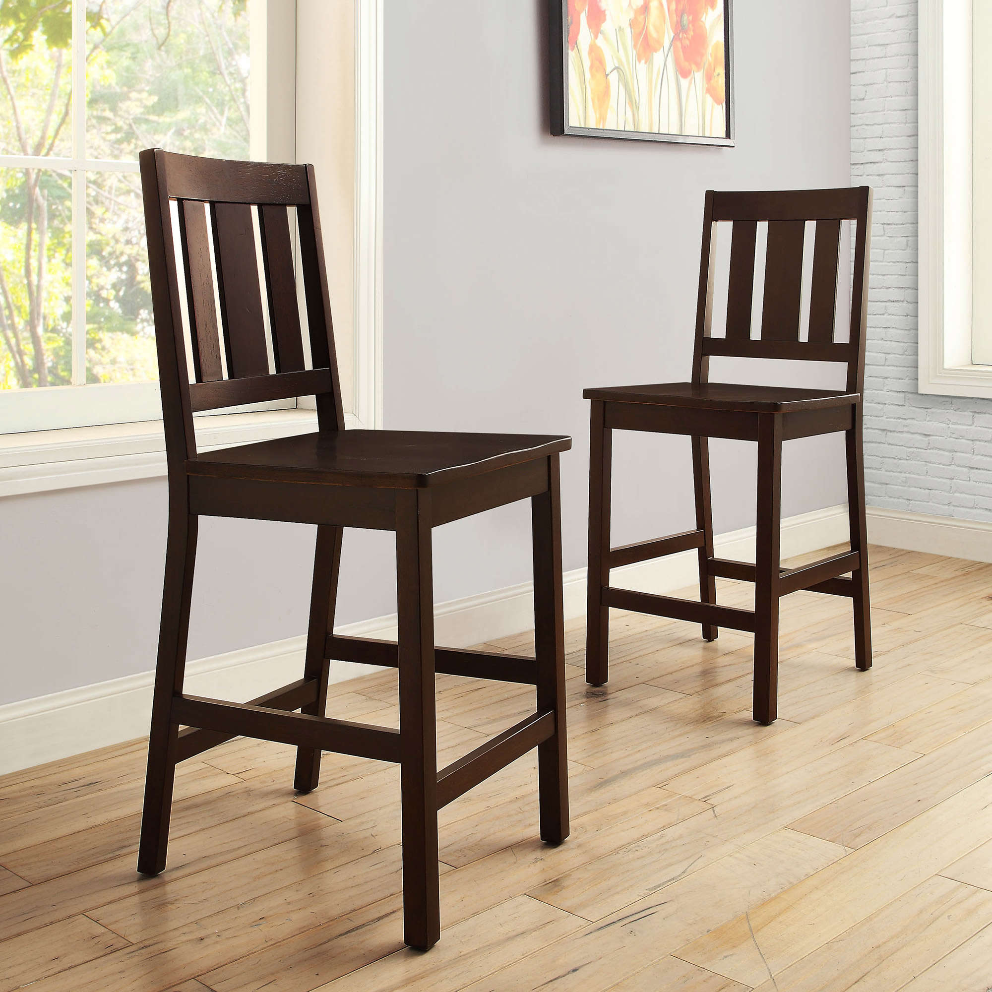 Beautiful Better Homes And Gardens Bankston Counter Height Stool, Set Of 2, Mocha